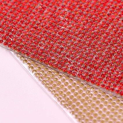 Red Crystal Fabric Red Rhinestone Sheet Red Rhinestone Fabric