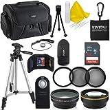Professional 52MM Accessory Bundle Kit Nikon D3300 D3200 D3100 D5000 D5100 D5200 D5300 D5500 D7000 D7100 D7200 & DSLR Cameras, 15 Accessories Nikon