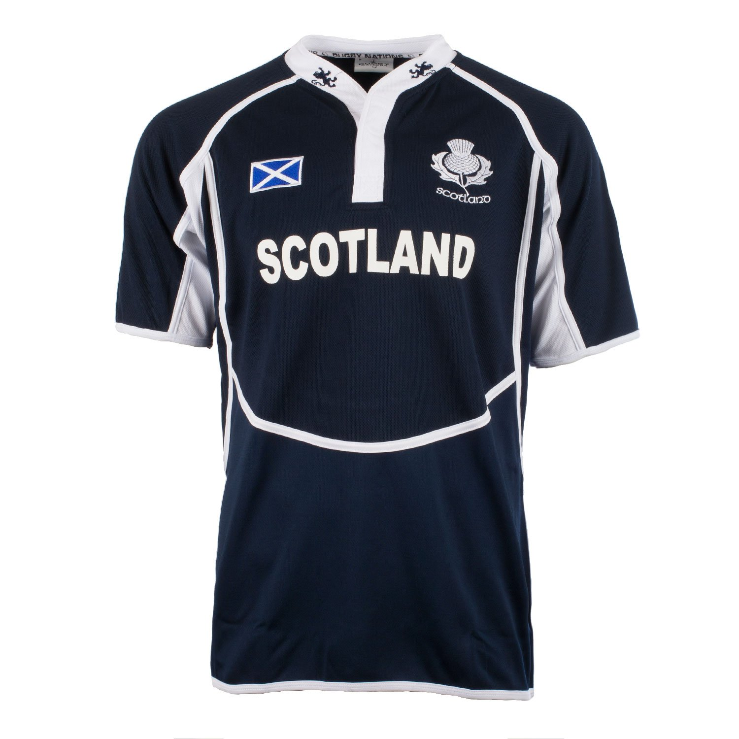 Rugby Nations Men's New Cooldry Rugby Shirt Lion Embroided Collar