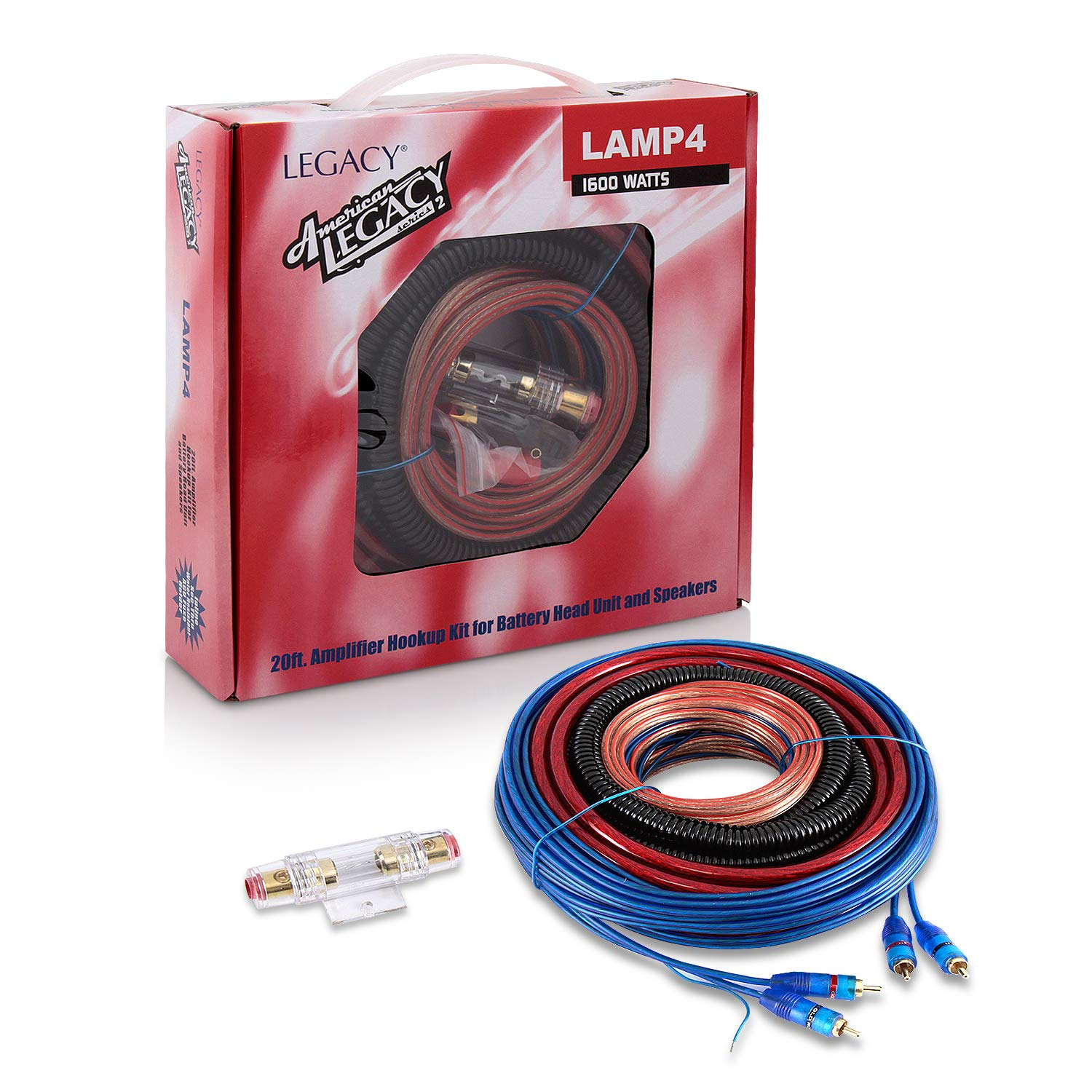 Legacy Lamp4 1600w 4 Gauge Amplifier Wiring Installation Kit Amazon Complete 10 Awg Car Amp Wire Sub Subwoofer Musical Instruments