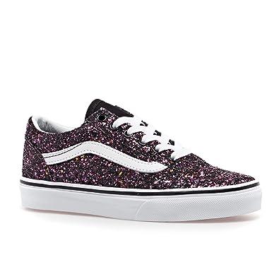 7fe19eb3492a0 Amazon.com | Vans Kids Girl's Old Skool Glitter Stars Skate Shoes ...