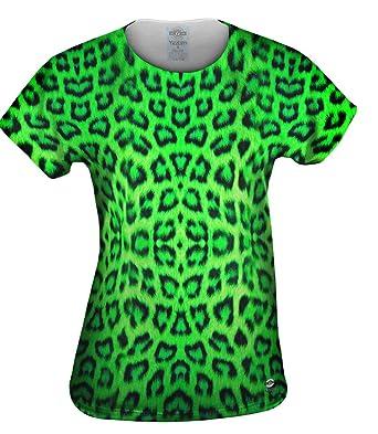Amazon Com Yizzam Neon Green Leopard Animal Skin Tshirt Womens