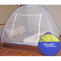 Oumffy Mosquito Net Foldable King Size (Double Bed) with Free Saviours - (Blue)(Mosquito net for Double Size Bed)