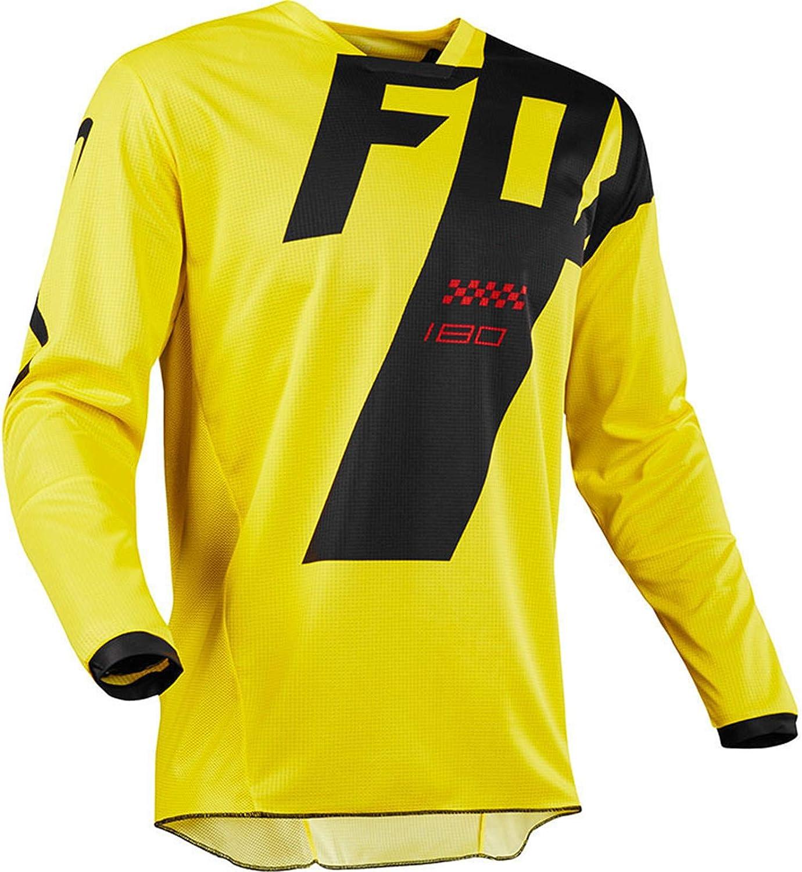 Mountain Bike Motocross Jersey Camiseta de Manga Larga - Traje de Descenso al Aire Libre A Prueba de Viento, Anti-UV