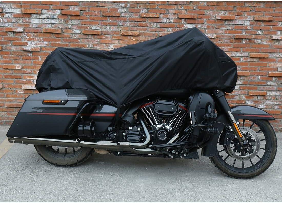 HNXCBH Copri Biciclette da Esterno M L XL del Motociclo Copertura Mezza 210T Universale Esterna Impermeabile Antipolvere Antipioggia UV Protezione del Motociclo Bici Color : L