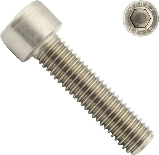 Innensechskant 8 mm 100 St/ück Zylinderkopfschrauben DIN 912 A2-70 Edelstahl M 10 x 25 mm Zylinderschrauben