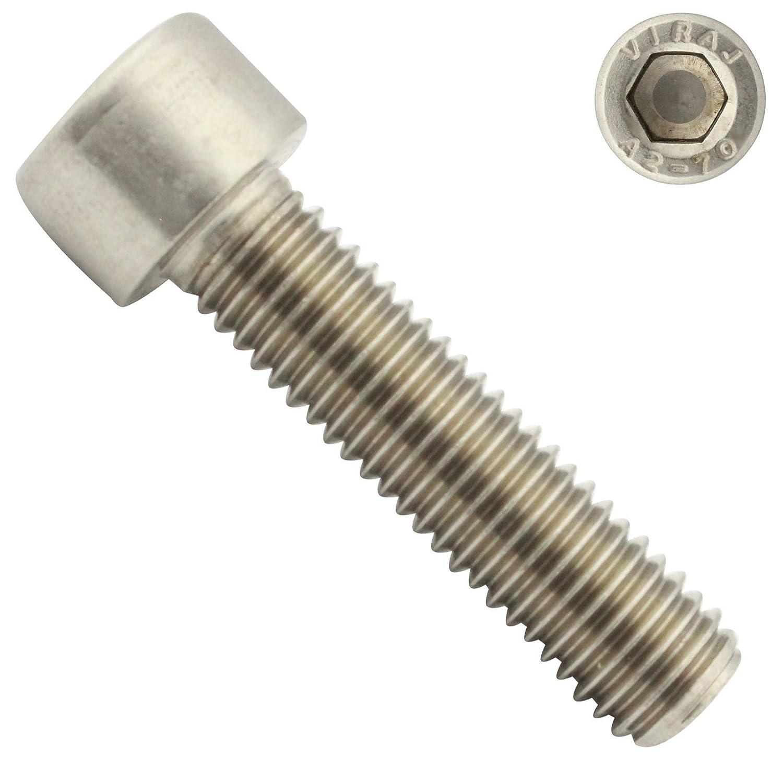 - Vollgewinde - DIN 912 M2,5x10 - Zylinderschrauben mit Innensechskant ISO 4762 Zylinderkopfschrauben aus rostfreiem Edelstahl A2 V2A SC912 10 St/ück