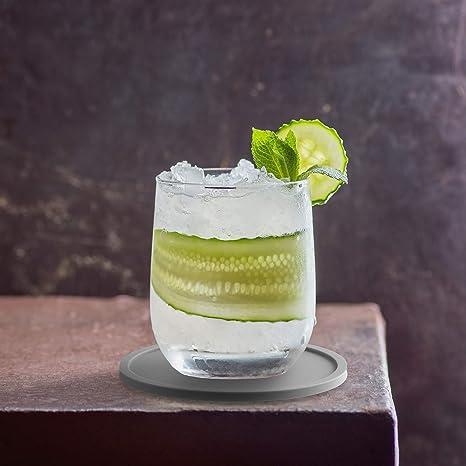 BIBO London/™ Juego de 8 posavasos para bebidas 8 unidades color gris