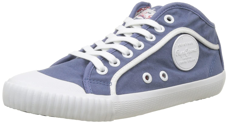 Pepe Jeans Industry Plain 18, Zapatillas Mujer 37 EU Azul (Soho Blue)