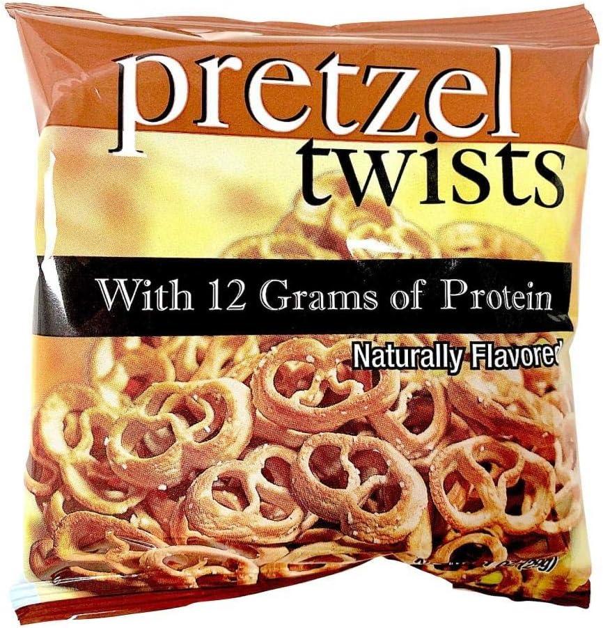 Pretzel Protein Twists | 7 Bags | Low Fat, Low Cholesterol, Low Calorie Diet Snack