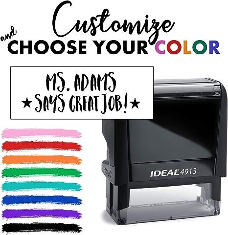 Custom Teacher Stamp Self Inking Teacher Stamps Choose Your Color Stars Great Job