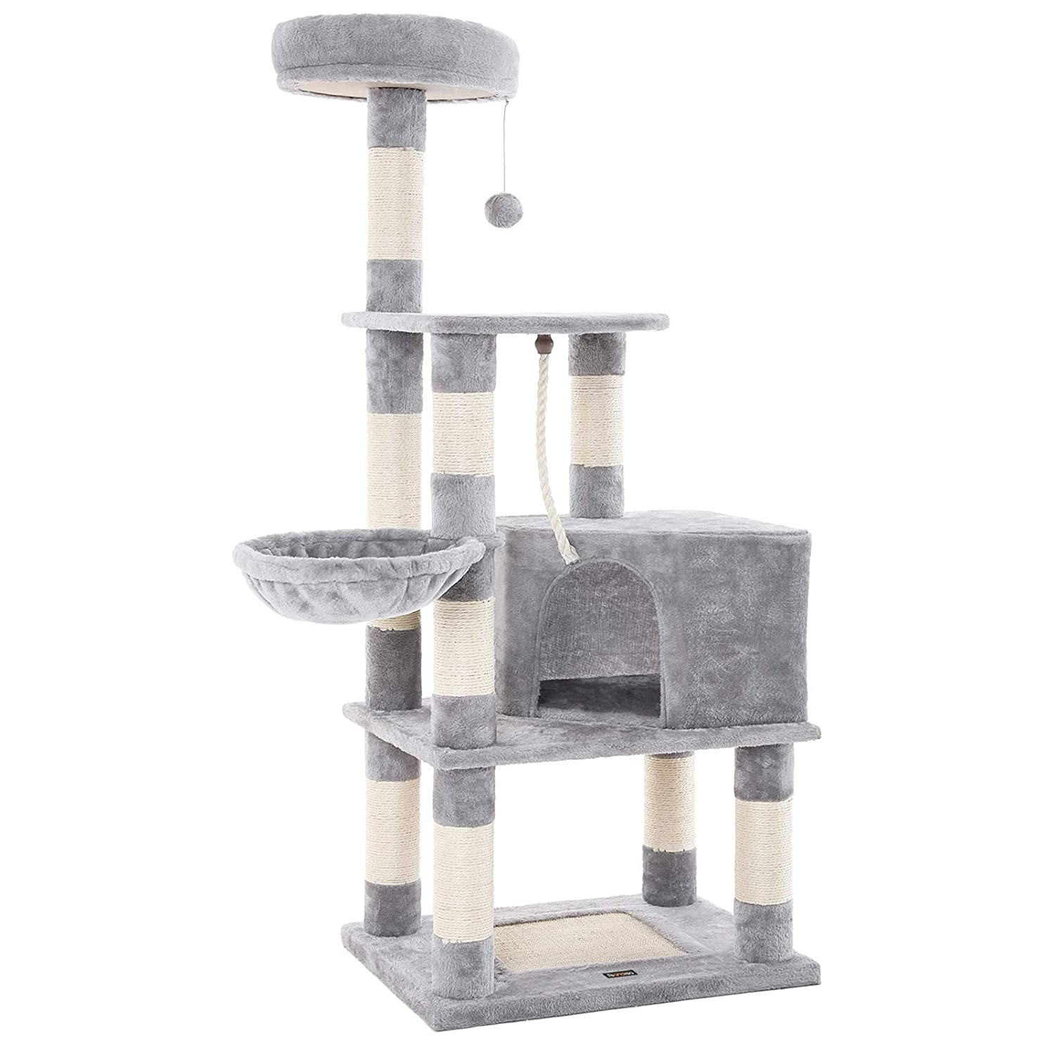 Spacious space to ensure 148cm NPCT60H to SONGMICS cat tower cat tower quality play No Good smell