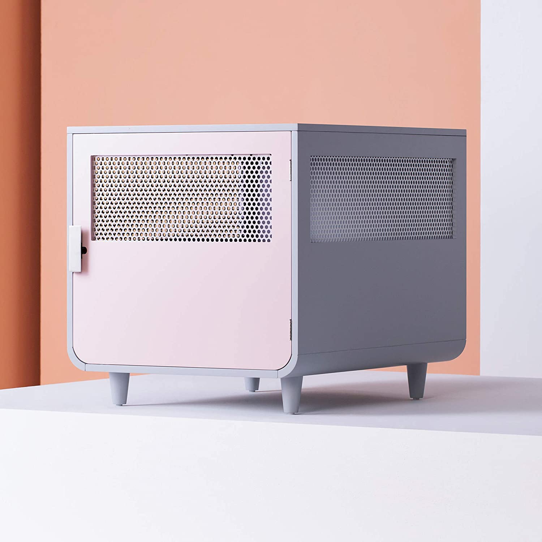 Staart - Radius Wooden Dog Crate - Chablis Pink - Medium