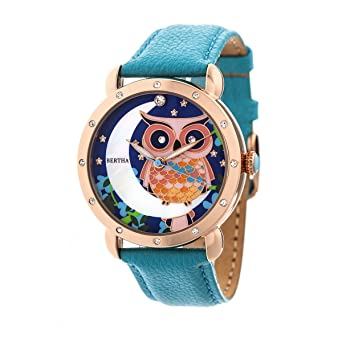 Amazon.com: Bertha Womens BTHBR3007 Ashley Mother of Pearl Leather-Band Turquoise Watch: Bertha: Watches