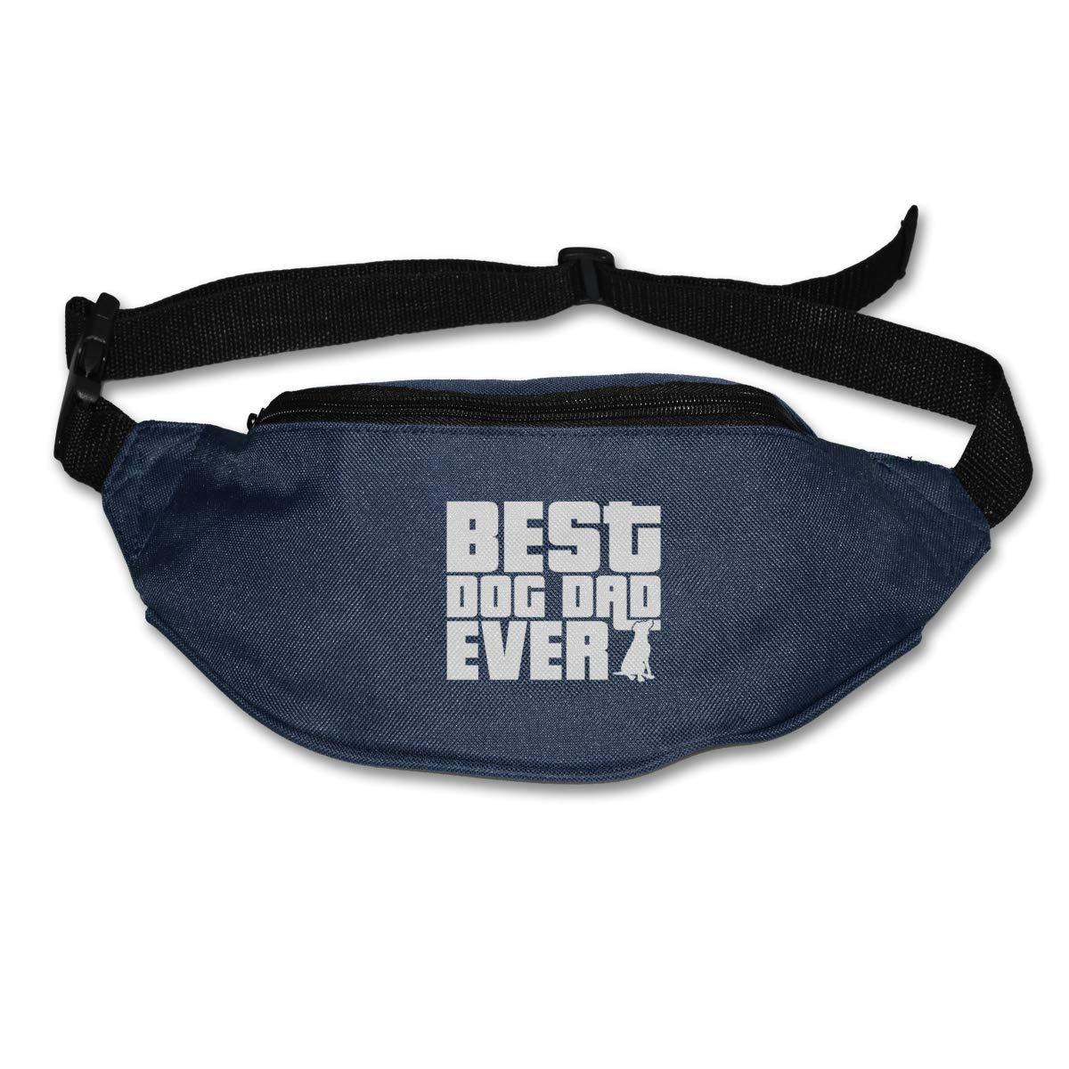 Best Dog Dad Ever Sport Waist Bag Fanny Pack Adjustable For Travel