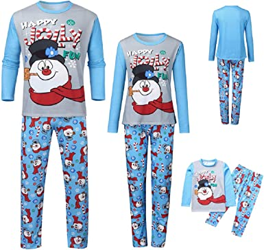 Family Christmas Pajamas Xmas Pajamas Sets Outfit Cartoon Letter Matching Family Nightwear PJS Mom Dad Kids Sleepwear