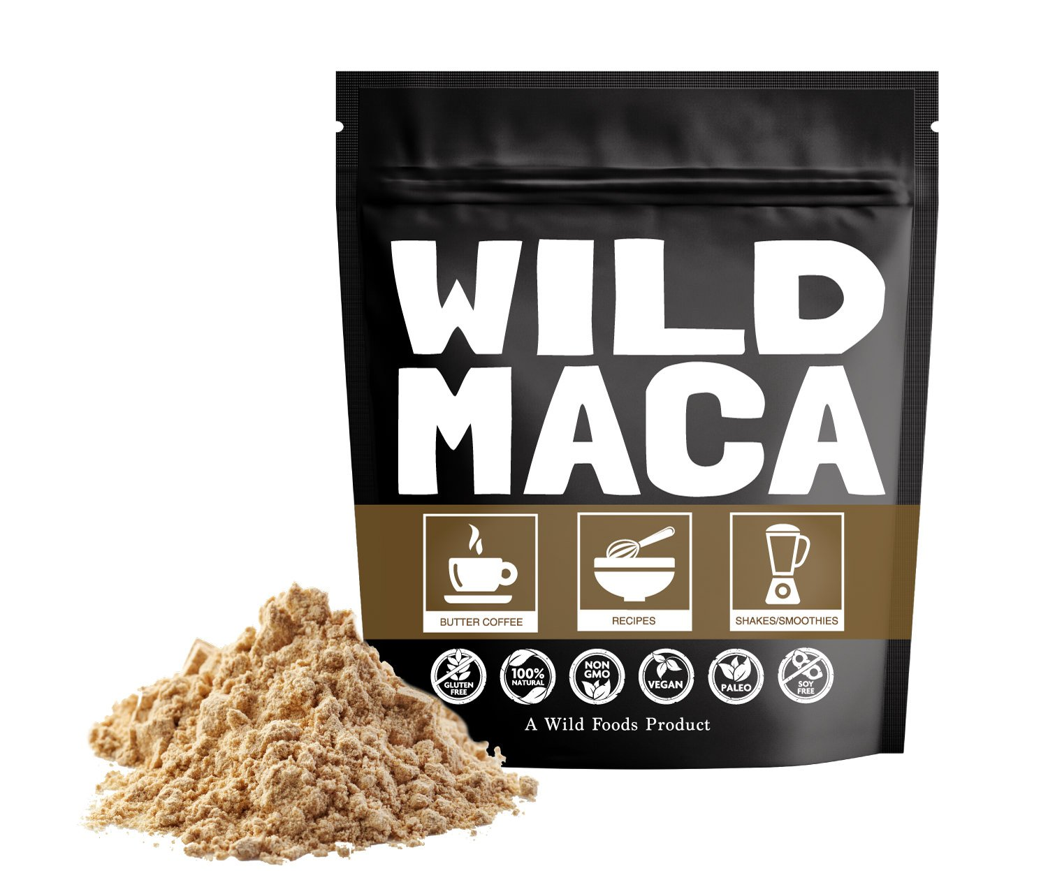 Wild Maca Powder, Raw Maca Powder from Peru Made From 100% Natural Organically Grown Hand-processed Maca by small Farmers (24 ounce)