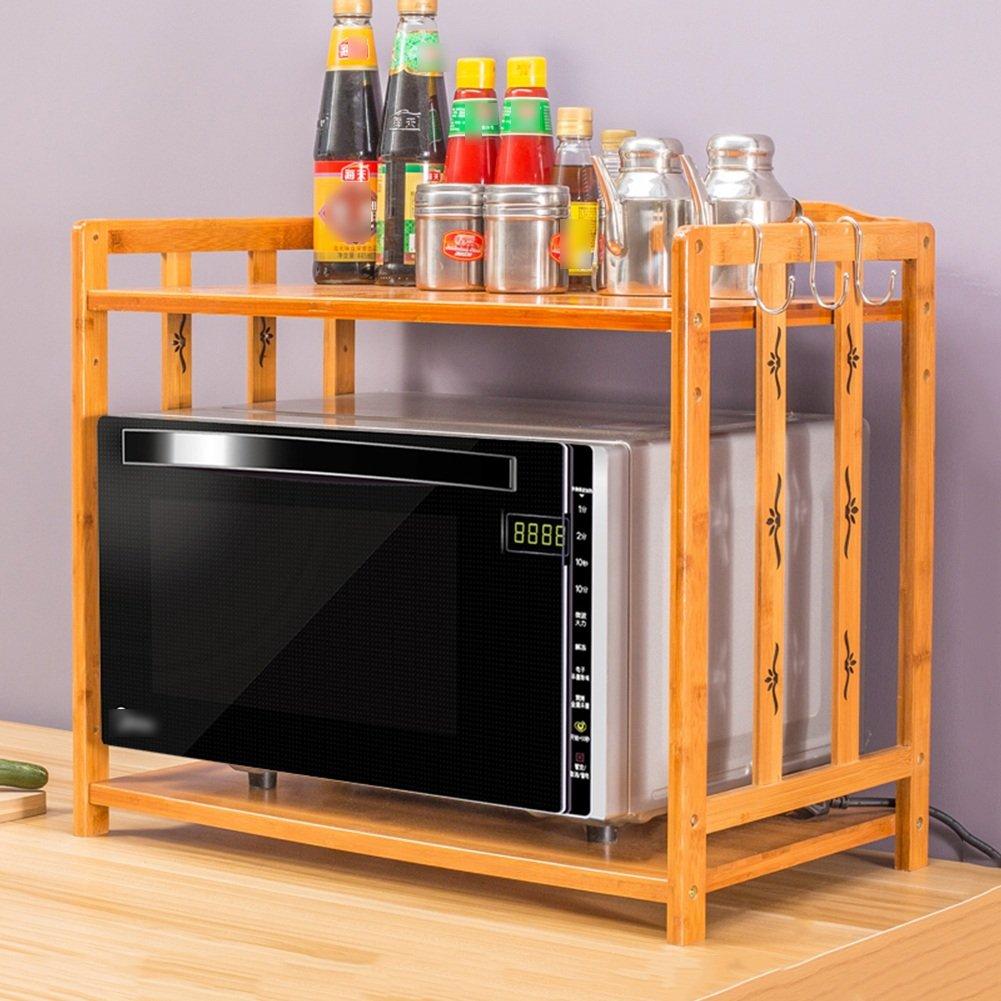 LIANGLIANG 調理ラック 電子レンジオーブンラック木製キッチン収納棚調味料ラック、3サイズ、2タイプあり 収納家具 ( 色 : 2# , サイズ さいず : 70X34X50cm ) B0799KYQTZ2# 70X34X50cm