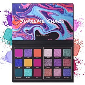 Matte Eyeshadow Palette Pro 18 Colors Highly Pigmented Shimmer Eye Shadow Palette Blendable Long Lasting Waterproof Makeup Cosmetics (03# Chaos)