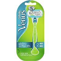 Gillette Venus cabo de barbear feminino verde extra suave + 2 refis de lâminas