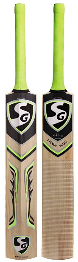 SG Nexus Plus Kashmir Willow Cricket Bat  Color May Vary