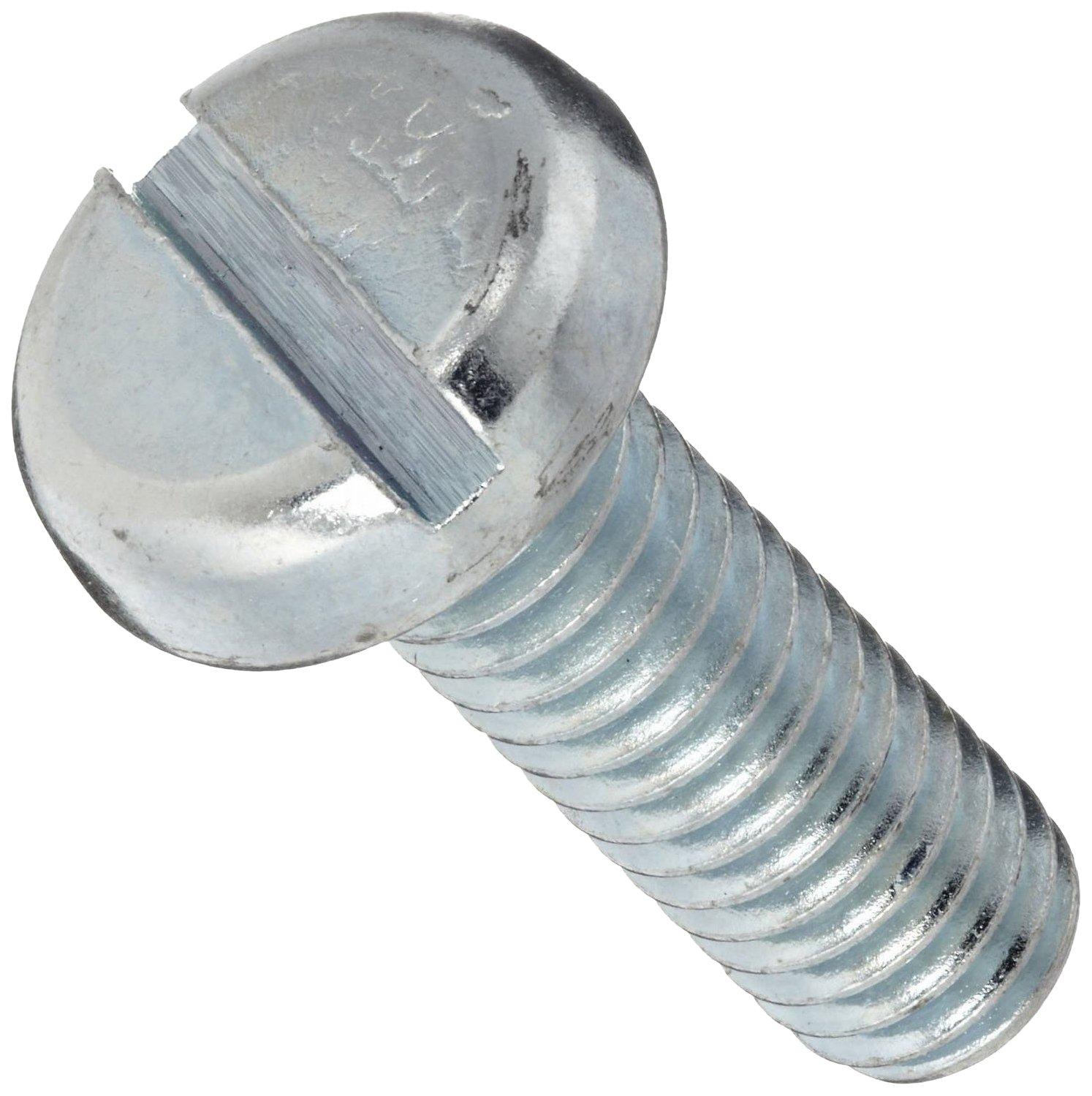 Steel Steel Pan Head Machine Screw, Zinc Plated, Meets ASME B18.6.3, Slotted Drive, 1/4'-20 Thread Size, 1/4' Length, Fully Threaded, Imported (Pack of 50)