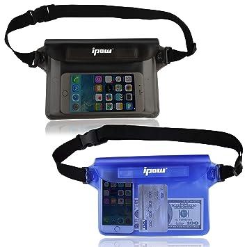 6c811ed5f87 ipow Bolsa riñonera Impermeable [Pack de 2] iPhone, teléfono móvil, cámara,