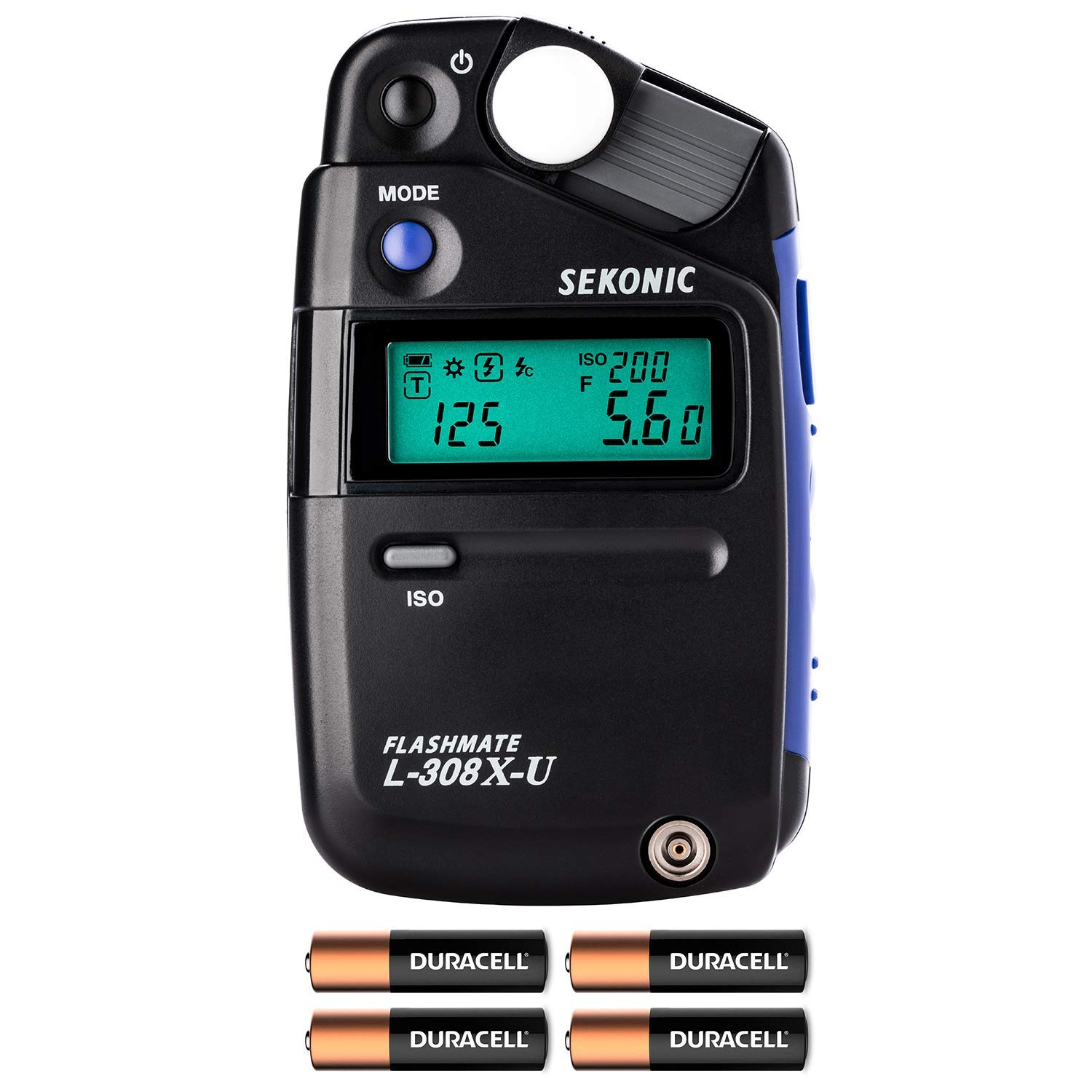 Sekonic L-308X-U Flashmate Light Meter W/ 4 AA Batteries and FiberTique Cloth by Sekonic