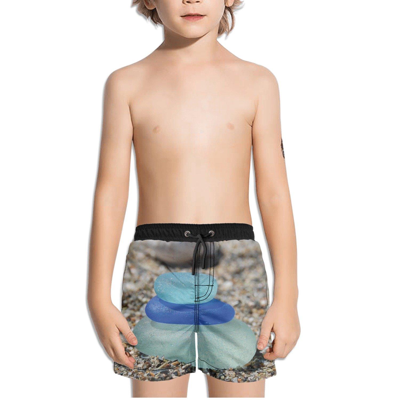 Ouxioaz Boys Swim Trunk Beach Glass Sea Glass Beach Board Shorts