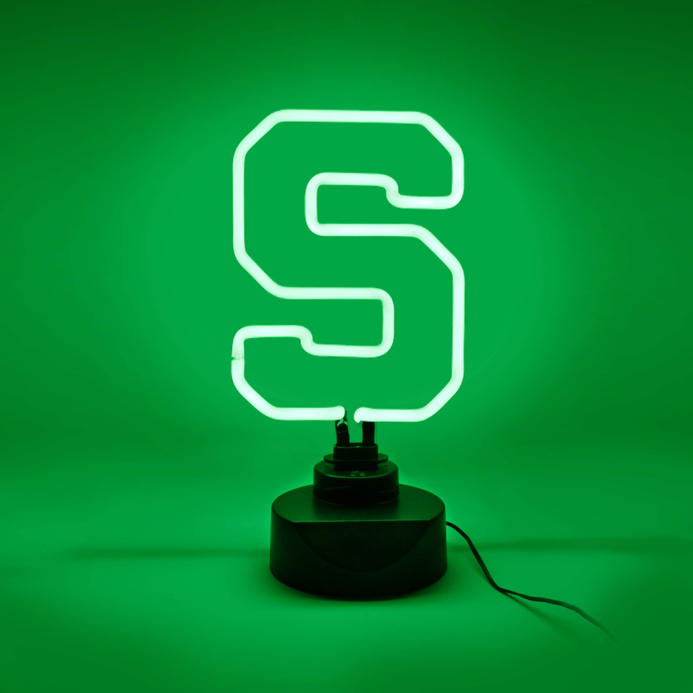 Michigan State Table Top Neon Light