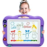 Magnetic Drawing Board Toddler Toys for Boys Girls, 17 Inch Magna Erasable Doodle Board for Kids A Colorful Etch Education Sketch Doodle Pad Toddler Toys for Age 3 4 5 6 7 Year Old Boy Girl