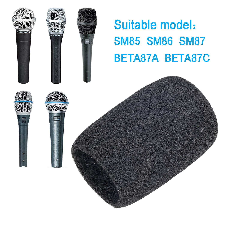 SM85 come Shure A85WS di YOUSHARES Parabrezza in schiuma per microfono Shure BETA87A 2Pack Filtro pop per microfono BETA87C SM86 SM87A