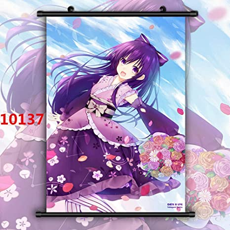 Japan Anime DATE A LIVE Yatogami Tohka Home Decor Wall Scroll Poster 50X70 DD312