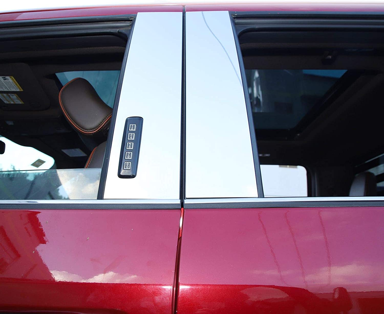 Voodonala for F150 Polished Stainless Steel Pillar Posts Accent ...