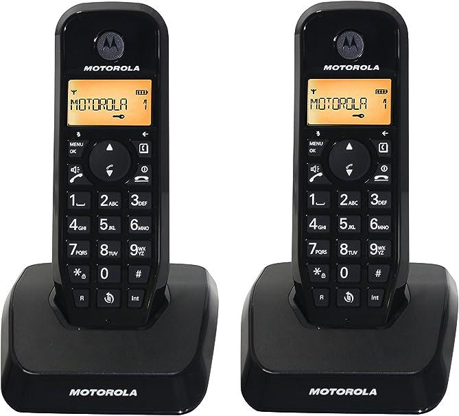 Motorola S1202 Duo - Teléfono fijo inalámbrico, color negro: Amazon.es: Electrónica