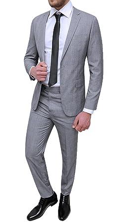 online store b146a 040fd Mat Sartoriale Herren Anzug Grau grau 40: Amazon.de: Bekleidung