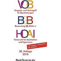 VOB - Vergabe- und Vertragsordnung für Bauleistungen. HOAI - Honorarordnung für Architekten und Ingenieure