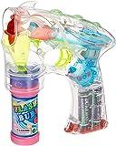 Rhode Island Novelty - Light-Up LED Transparent Bubble Gun