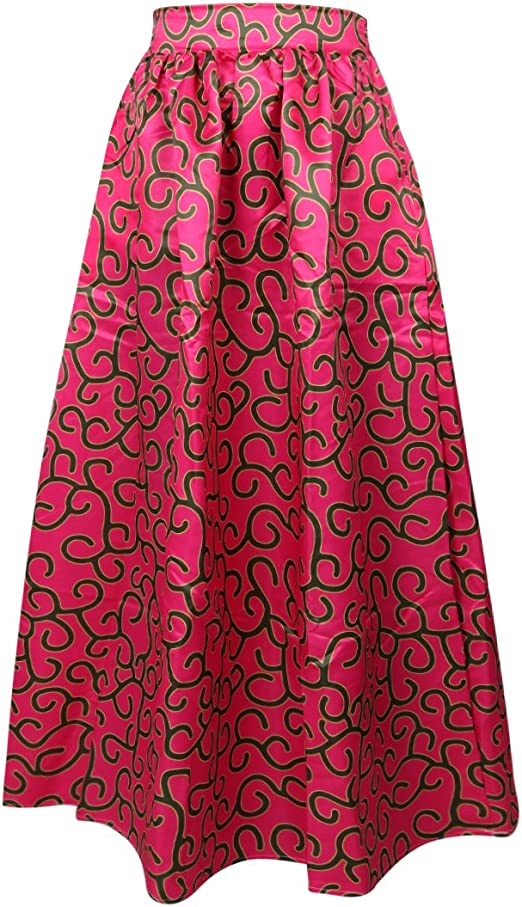 African Women Floral Maxi Skirts