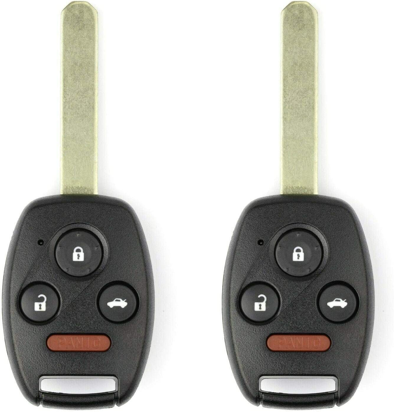 FikeyPro Keyless Entry Remote Control Car Key Fob fits 2003 2004 2005 2006 2007 Honda Accord OUCG8D-380H-A 2 Pack