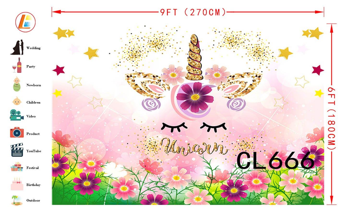 Amazon Com Lb 9x6ft Unicorn Party Photography Backdrop Spring