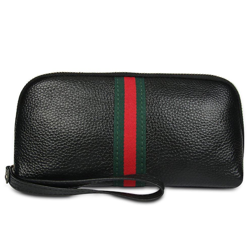ae6943de456aa9 Soft Leather Wristlet Purses for Women Designer Wristlet Wallet with Strap