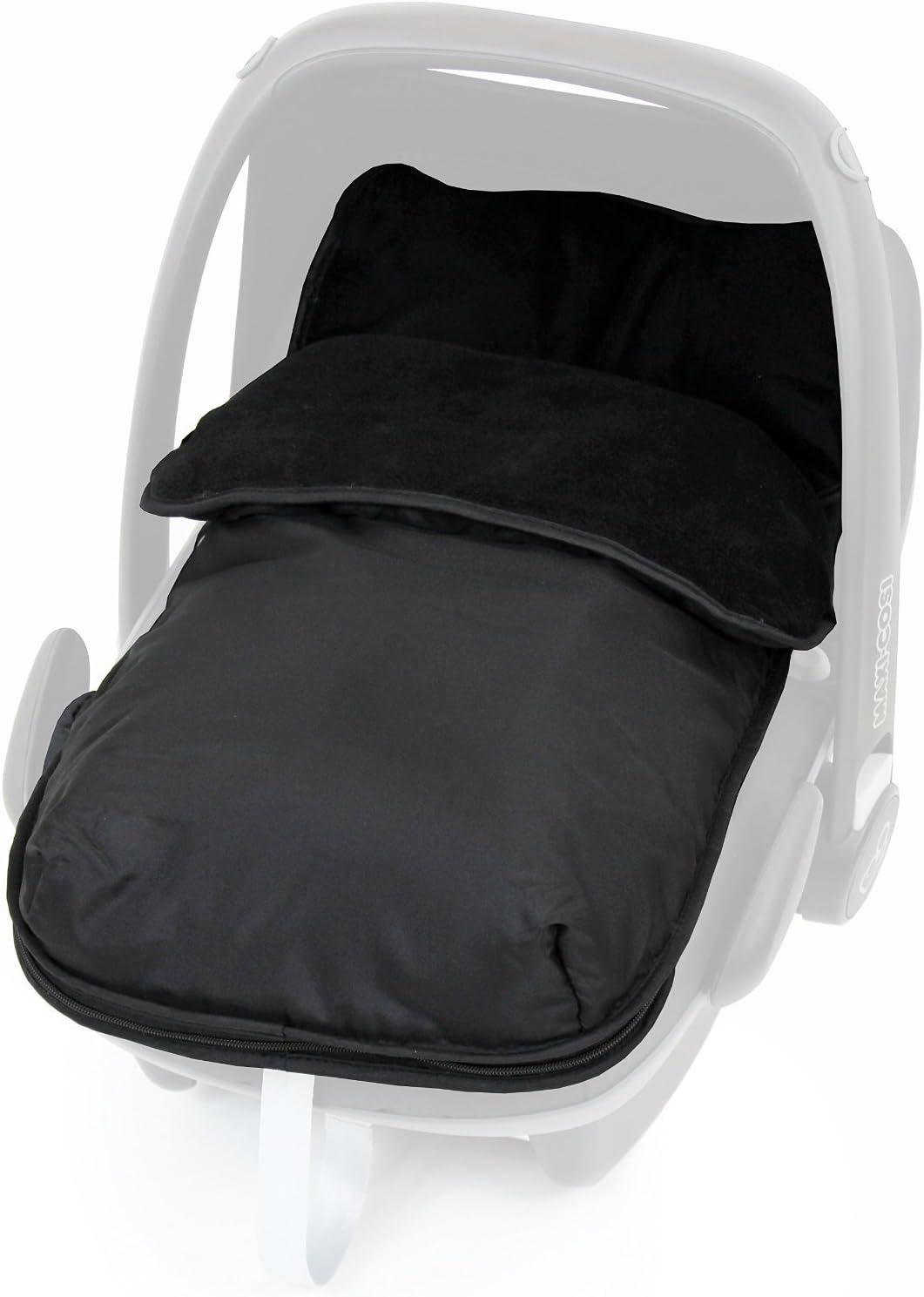 Grey Universal Car Seat Footmuff to Fit Silver Cross Black//Grey