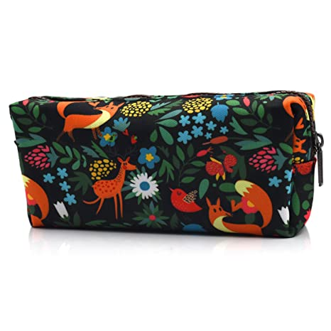 Fox Pencil Case Fabric Zipper Pouch Gift for Friends Red Fox Zipper Pouch