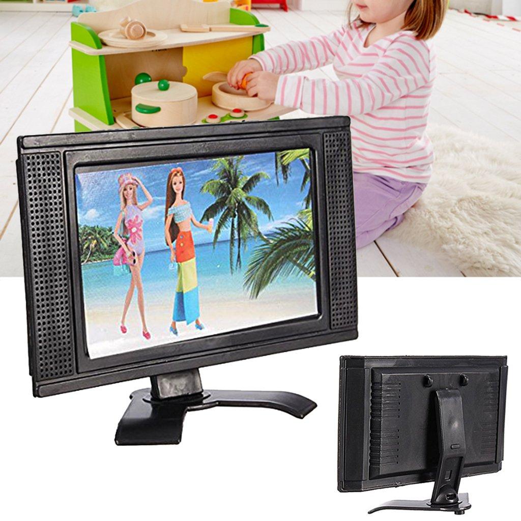 Runrain LCD TV muñeca Estructura de Juguete Accesorios para Barbie muñeca casa Muebles: Amazon.es: Productos para mascotas