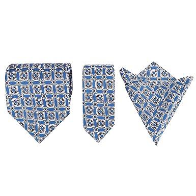 Para hombre floral theenglish porcelana seda Tie Set, con bolsillo ...