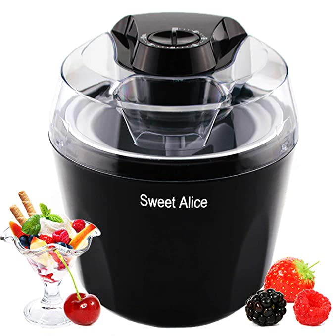 Ice Cream Maker, 1.5 Quart Automatic Frozen Yogurt, Sorbet, and Ice Cream Machine, Auto Shut-off Timer Function BPA-free Frozen Dessert Machine best ice cream maker