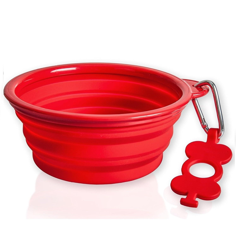 Bol pliable pour chien de Bonza de 7 pouces de diamètres, pour les chiens de moyennes à grandes tailles, est léger, robuste, étanche et sécuritaire pour les aliments. SiliPet BP-002B