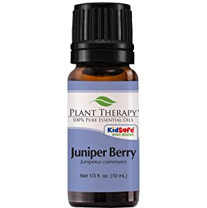 Plant Therapy Juniper Berry Essential Oil | 100% Pure, Undiluted, Natural Aromatherapy, Therapeutic Grade | 10 Milliliter (1/3 Ounce)