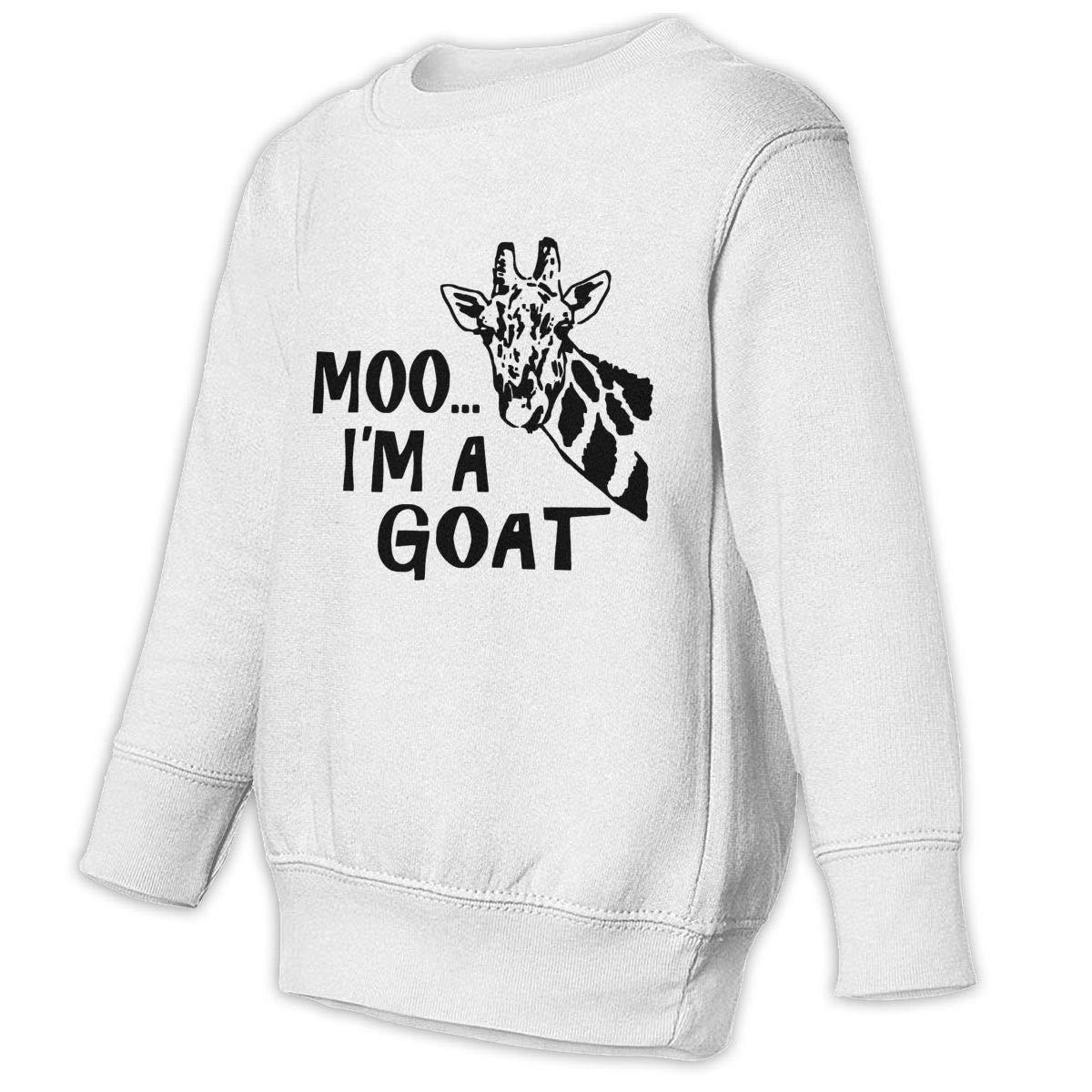 GHYNJUM Moo Im A Goat Funny Giraffe Toddler Unisex Cotton Long Sleeve Round Neck Sweatshirt
